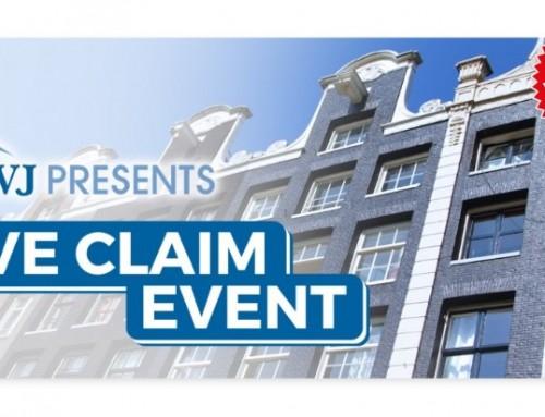 Bedankje en opvolging VVE Claim Event